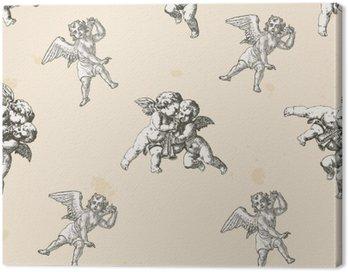 Obraz na Płótnie Anioły wzór - wzór zawarte w polu próbki