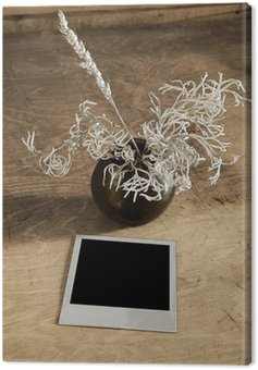 Obraz na Płótnie Archiwalne zdjęcie i ikebana na stół