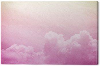 Obraz na Płótnie Artystyczny miękkie chmury i przestrzeni powietrznej z grunge tekstury papieru