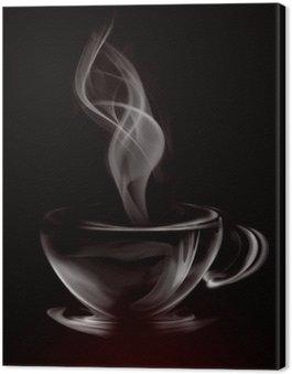 Obraz na Płótnie Artystycznych ilustracji dymu filiżanka kawy na czarno