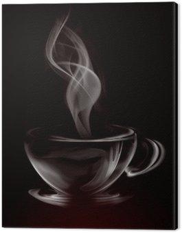 Artystycznych ilustracji dymu filiżanka kawy na czarno