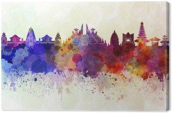 Obraz na Płótnie Bali skyline w tle akwareli