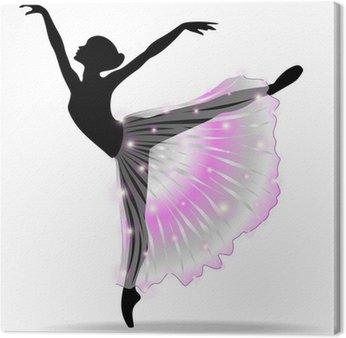 Obraz na Płótnie Ballerina Ballet Dancer Dance-Classic-Vector Sylwetka