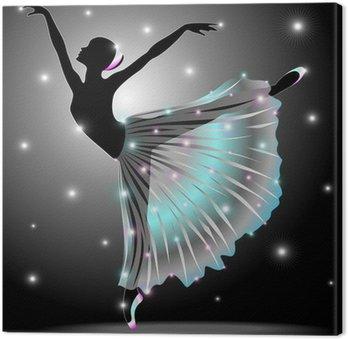 Obraz na Płótnie Ballerina Danza Classica-Classic Star Dance Dancer-Vector