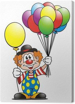 Obraz na Płótnie Balony Clown