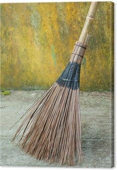 Obraz na Płótnie Bamboo miotła