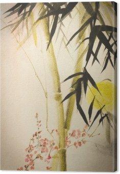 Bambus Słońce i oddział śliwki