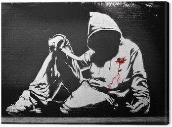 Obraz na Płótnie Banksy bluza z nożem Graffiti