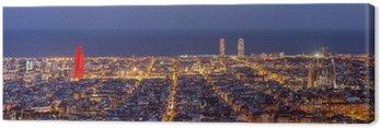Obraz na Płótnie Barcelona skyline panorama w nocy