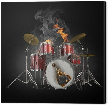 Obraz na Płótnie Bębny w ogniu