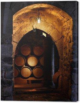 Obraz na Płótnie Beczka wina w winerry.