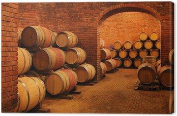 Obraz na Płótnie Beczki wina