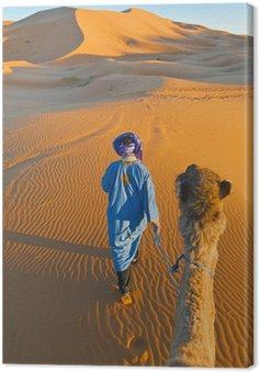 Obraz na Płótnie Berber spaceru z wielbłądem w Erg Chebbi, Maroko