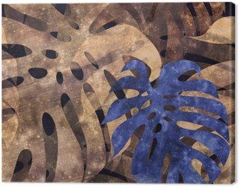 Obraz na Płótnie Bez szwu powtarzalny monstera liści w tle