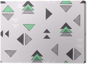 Obraz na Płótnie Bez szwu ręcznie rysowane trójkąty wzór.