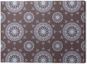 Obraz na Płótnie Bez szwu ręcznie rysowane wzór mandali do drukowania na tkaninie lub papierze. Zabytkowe elementy dekoracyjne w stylu orientalnym. Islam, arabskiej, indyjskiej, turecki, otomana motywy. ilustracji wektorowych.
