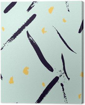 Obraz na Płótnie Bezproblemowa abstrakcyjne ręcznie rysowane pociągnięcie kształtuje wzór tekstury. Proste nowoczesne geometryczne druku Chevron w wektorze. Hipster stylowy wzór.
