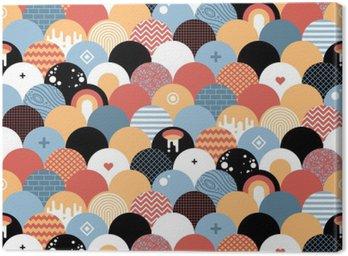Obraz na Płótnie Bezproblemowa geometryczny wzór w stylu płaskiej. Przydatne do owijania, tapety i tekstyliów.