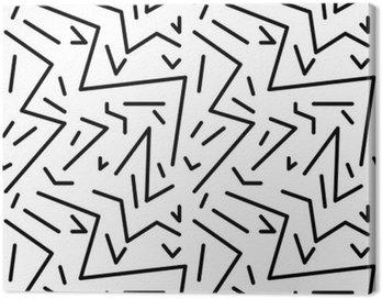 Obraz na Płótnie Bezproblemowa geometryczny wzór w stylu retro vintage, 80s stylu, Memphis. Idealny do projektowania tkanin, papieru i druku strony tło. EPS10 plik wektorowy