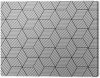 Obraz na Płótnie Bezproblemowa geometryczny wzór z kostki.