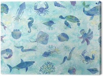 Obraz na Płótnie Bezszwowe tło morskich
