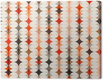 Obraz na Płótnie Bezszwowe tło wzór pomarańczowy
