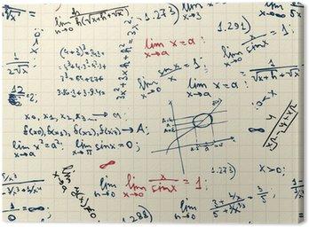 Obraz na Płótnie Bezszwowe tło z formuł matematycznych na tablicy