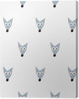 Obraz na Płótnie Bezszwowe wzór lisa