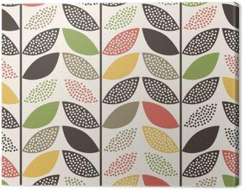 Obraz na Płótnie Bezszwowe wzór liścia background__
