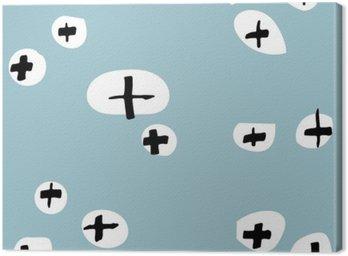 Obraz na Płótnie Bezszwowe wzory rysowane ręcznie. Wzór do wykorzystania na papier do pakowania, kartki z życzeniami i produktów upominkowych