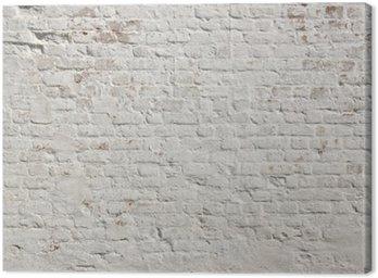 Obraz na Płótnie Białe grunge ceglany mur w tle