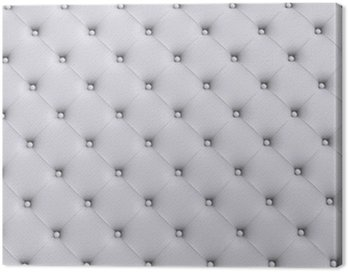 Obraz na Płótnie Białe tekstury skóry pikowane kanapy