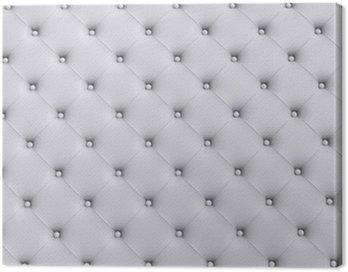 Białe tekstury skóry pikowane kanapy