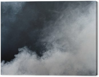 Obraz na Płótnie Biały dym na czarnym tle. izolowane.