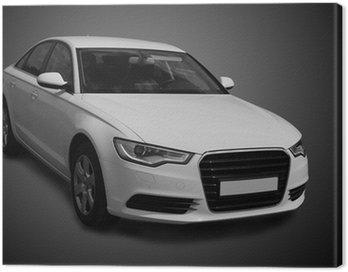 Obraz na Płótnie Biały luksusowy samochód