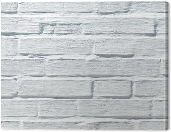 Obraz na Płótnie Biały mur z cegły, tekstury