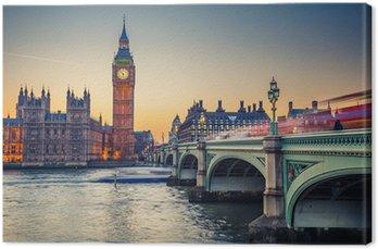 Obraz na Płótnie Big Ben i Houses of Parliament, Londyn