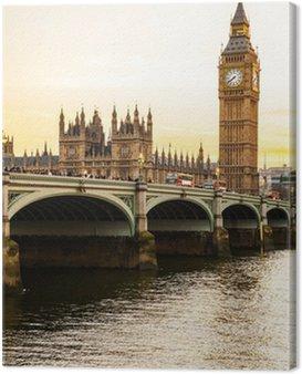 Obraz na Płótnie Big Ben wieża zegarowa i dom parlamentu w City of Westminster,