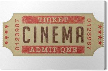 Obraz na Płótnie Bilet do kina domowego