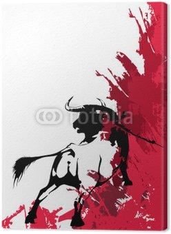Obraz na Płótnie Black bull-corrida