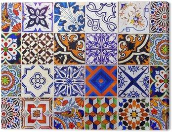 Obraz na Płótnie Bliska tradycyjne płytki ceramiczne Lizbona
