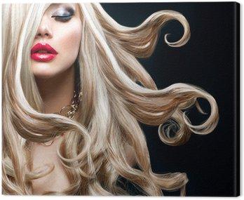 Obraz na Płótnie Blond włosy. piękna seksowna blondynka