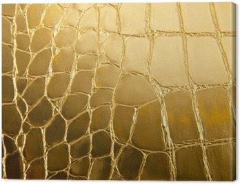 Obraz na Płótnie Błyszczące złoto skóry jako tło