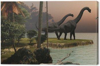 Obraz na Płótnie Brachiosaurus Zachód