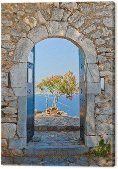 Brama w Palamidi twierdzy, Nafplio, Grecja