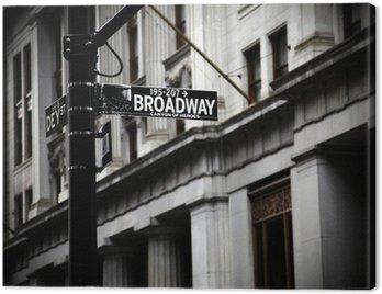 Obraz na Płótnie Broadway znak