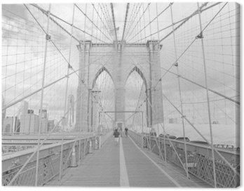 Obraz na Płótnie Brooklyn Bridge w Nowym Jorku