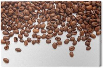 Obraz na Płótnie Brown palonych ziaren kawy samodzielnie na białym tle