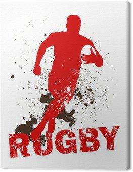 Obraz na Płótnie Brudne gracz rugby