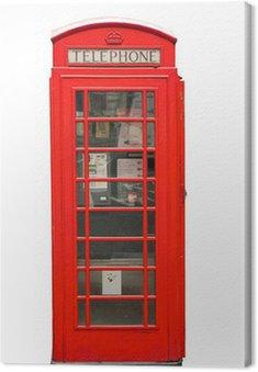 Obraz na Płótnie Brytyjski czerwone stoisko telefonu samodzielnie na białym tle
